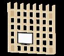 壁面収納 テレビ開口部付き