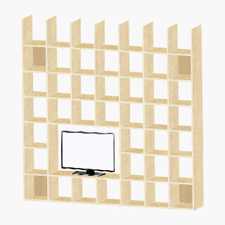 テレビ配置モデル画像