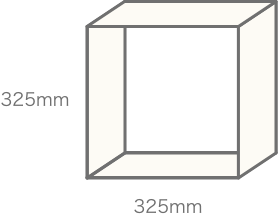 正方形のこま数の組み合わせで大きさ決定