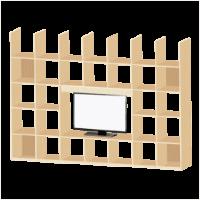人気の壁面収納型テレビボードシリーズです。オープンタイプのたっぷり収納で、本棚や飾り棚としても使用できます。日本製の木材を使用し、ナチュラルな風合いなので圧迫感もありません。