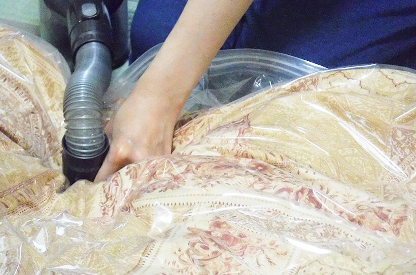 大きくてかさばる布団は布団袋や布団ケースを活用する