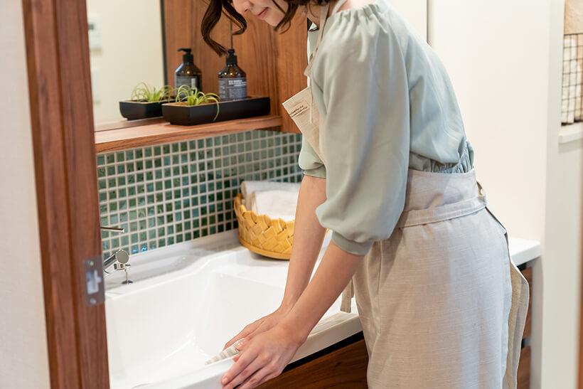 洗面台の掃除のコツ