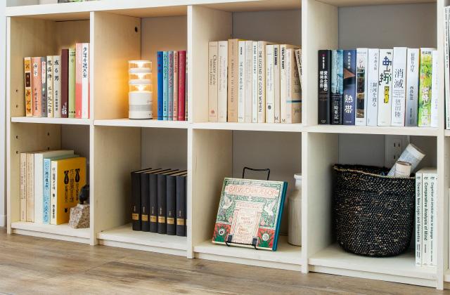 壁面収納本棚はこんなに大容量!何回も読み返したい名作漫画は書庫に愛蔵