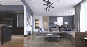 各部屋の本棚を廊下に出して大容量の壁面収納でお部屋を広くゆったり使う!