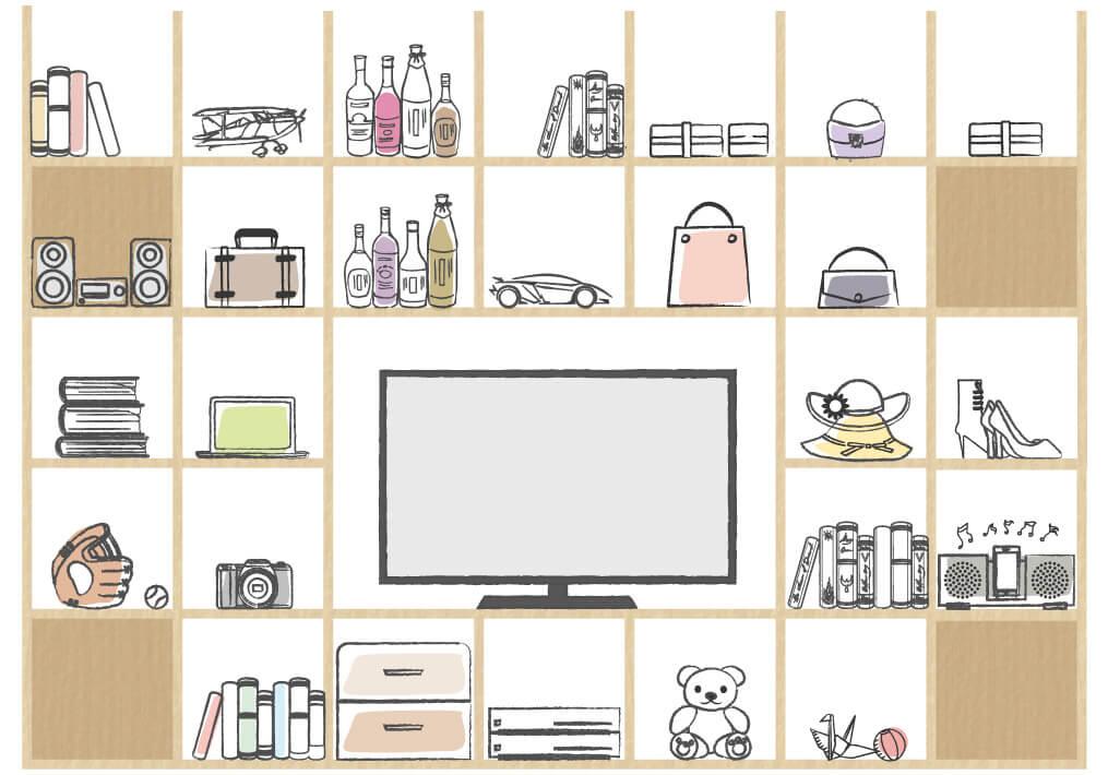 リビングを壁面収納で家族の「好き」が集まる空間に-01