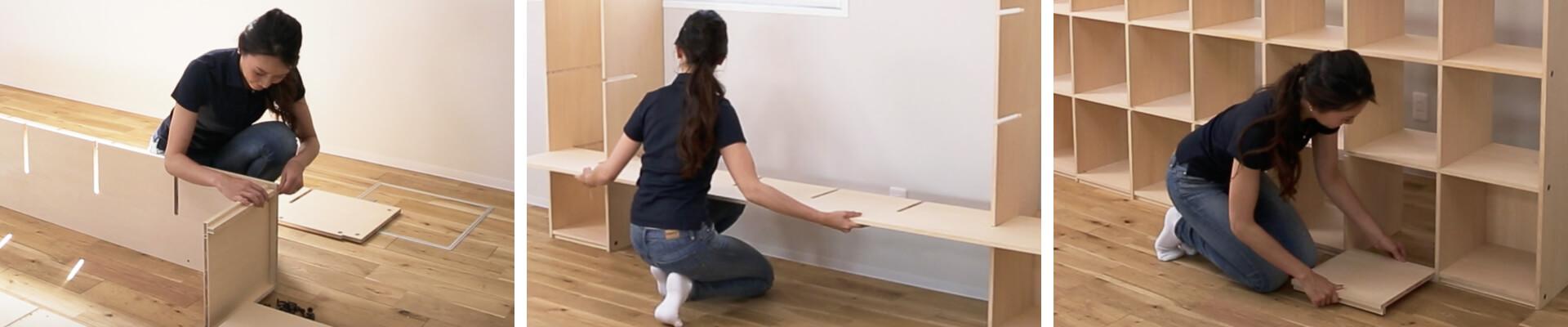 OSAMARUならもっと簡単に突っ張り式の壁面収納がDIYできる