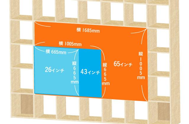 壁面収納OSAMARUはハイタイプのテレビ台にすべてが収まる