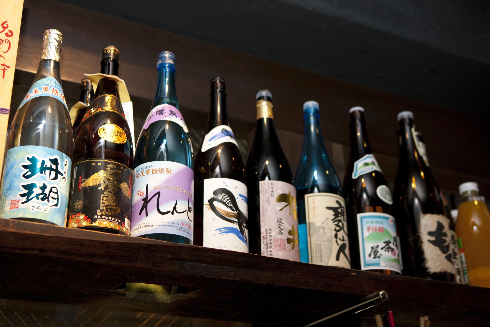 一升瓶の日本酒のコレクションはオーダーメイドで