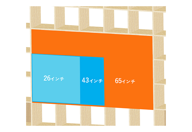 壁面収納タイプのテレビボード