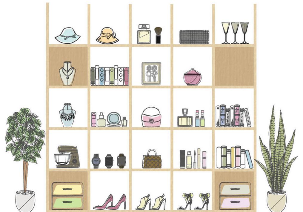 壁面収納のL字本棚で実現する「視界を埋めるコレクション」