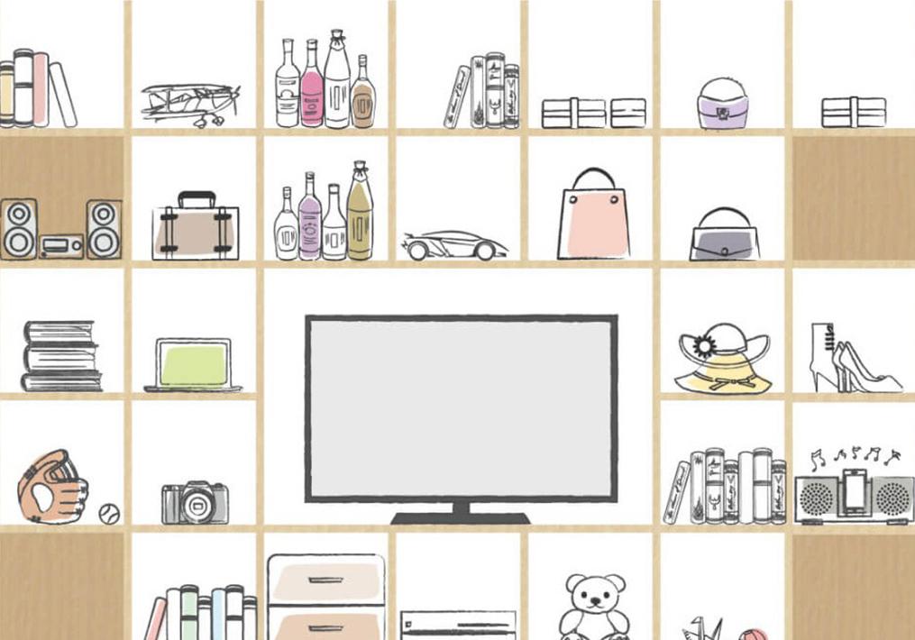 壁面収納に保管した想い出はテレビに映して家族で共有!